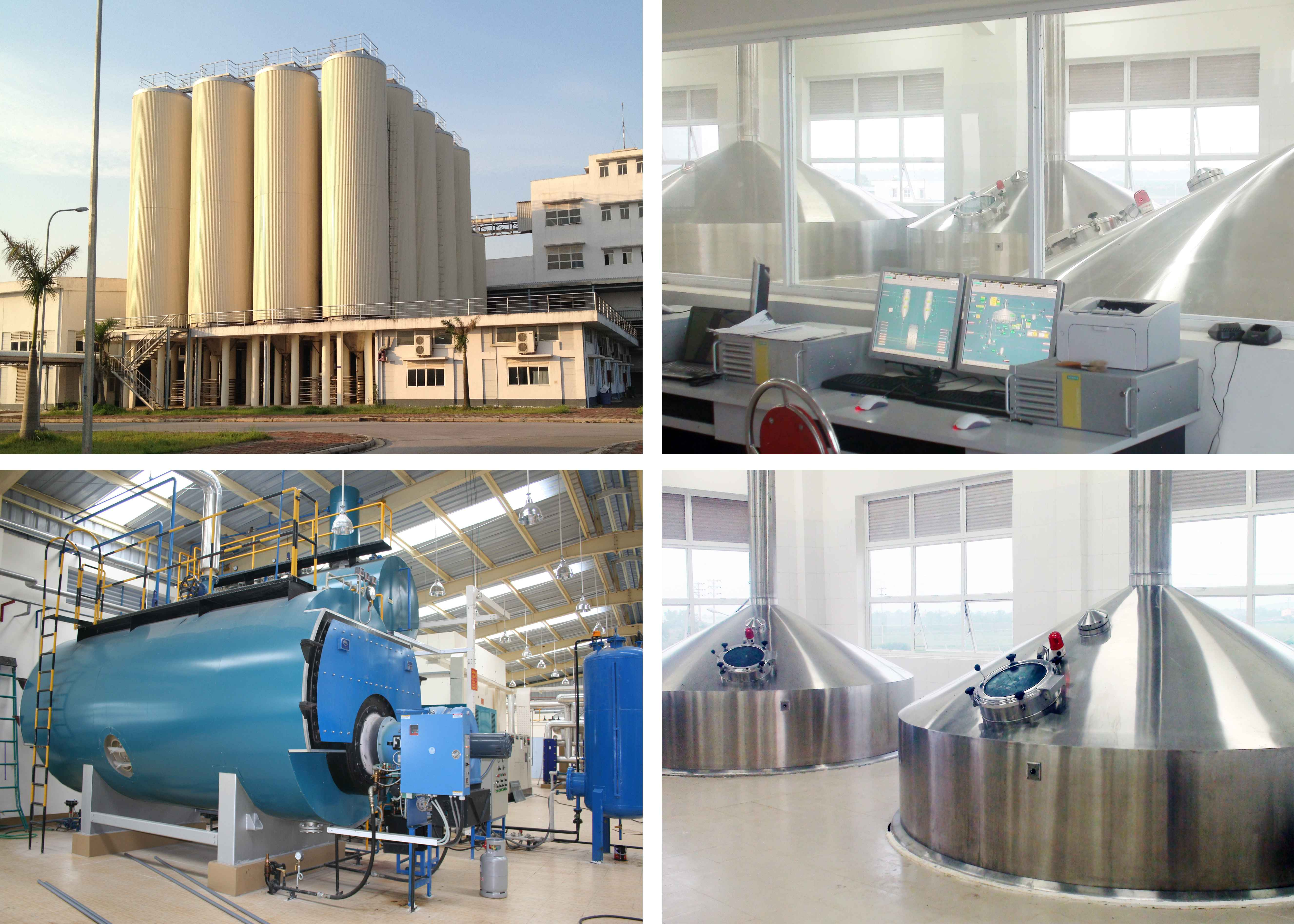 Sai Gon – Phu Tho Brewery with capacity 50 million liters per year was manufactured and installed by ERESSON VN – EPC contract