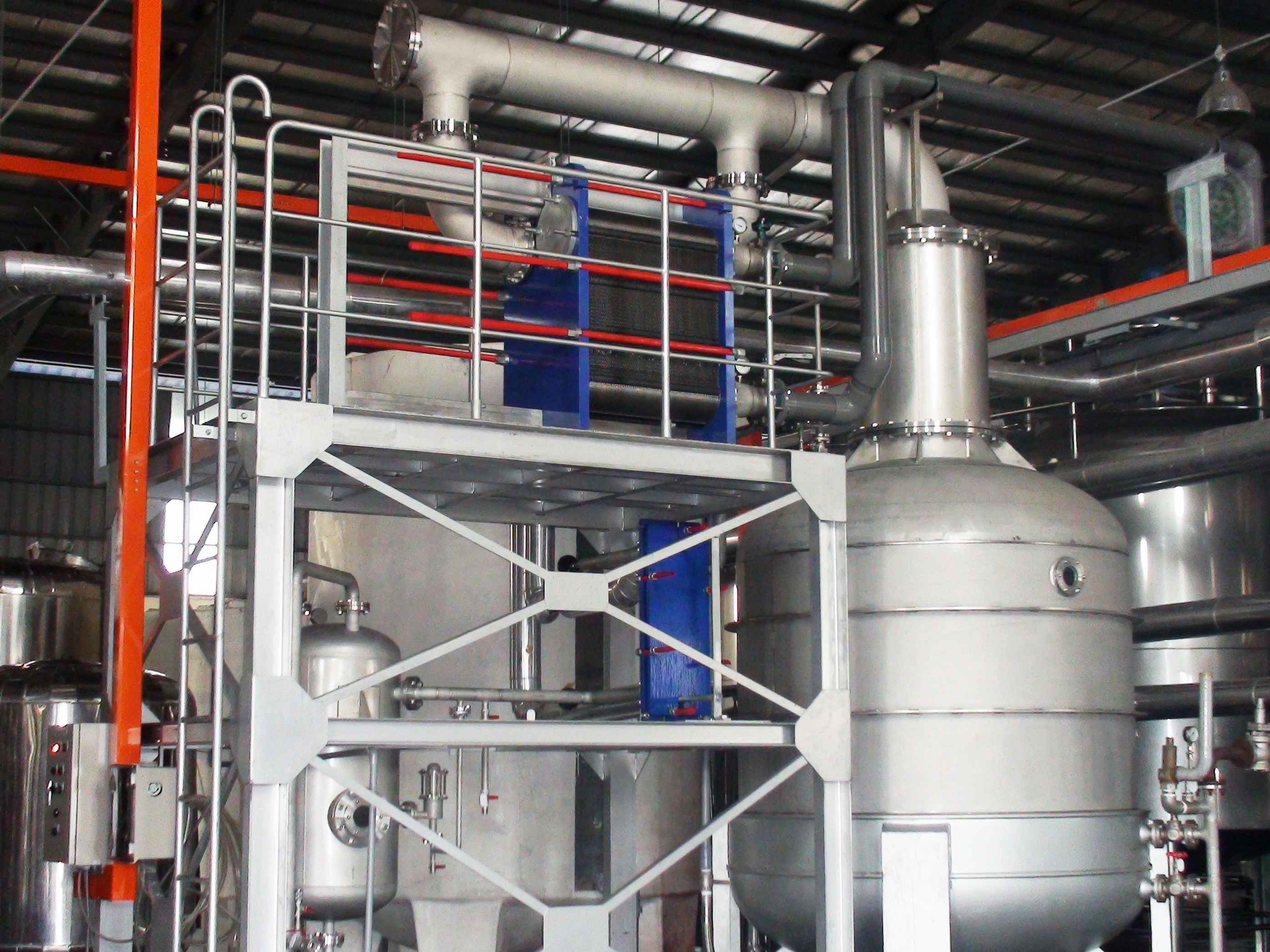 Vacuum Distillation Plant with board heat exchanger