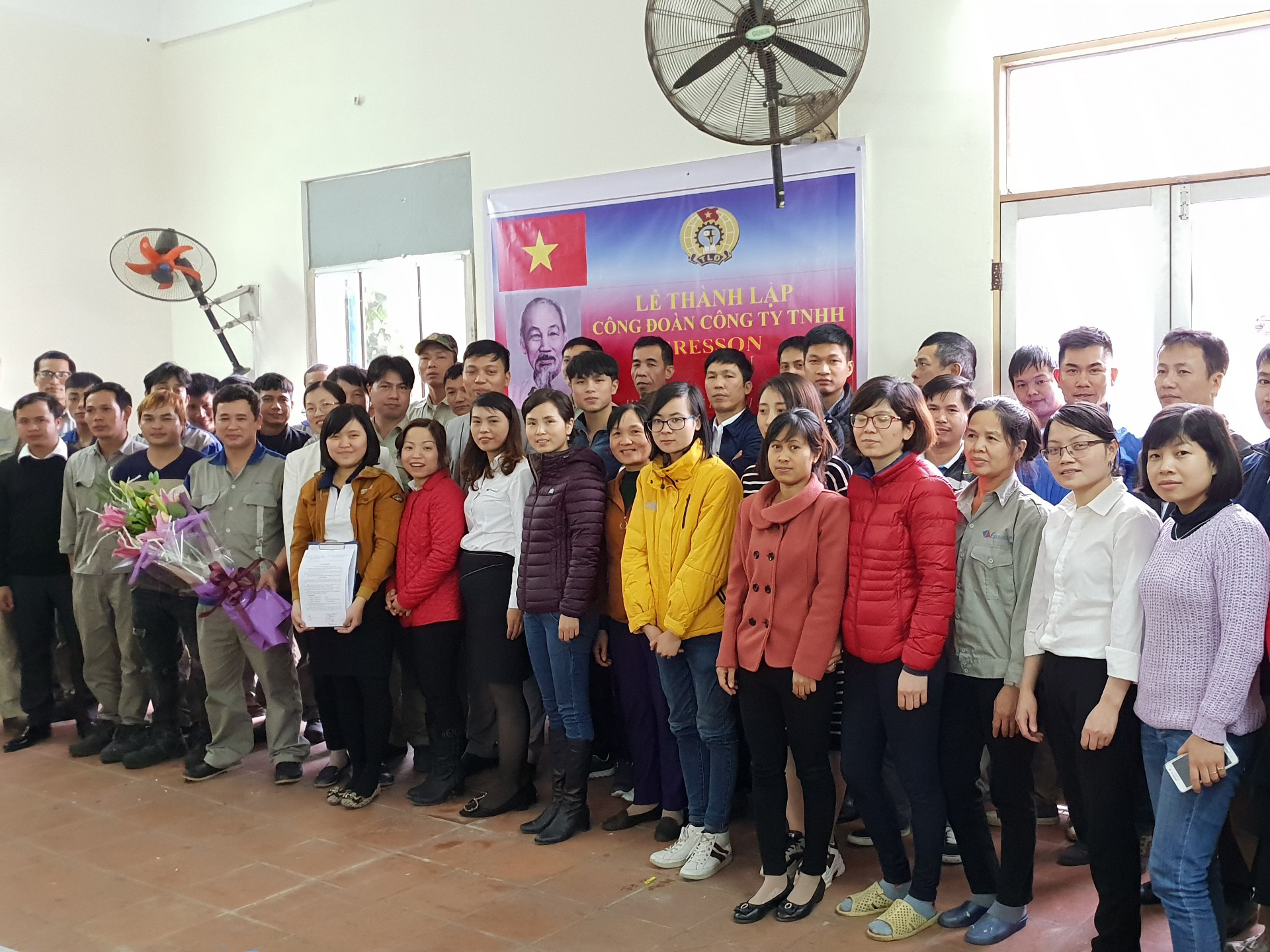 Lễ thành lập công đoàn Công ty Eresson Việt Nam